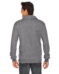 Zinc MADE IN USA Unisex Shawl Collar Rugby as seen from the back