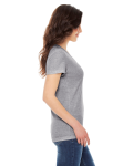 Athletic Grey MADE IN USA Ladies' Triblend Short-Sleeve Track T-Shirt as seen from the sleeveleft
