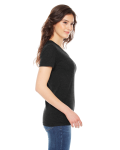 Tri Black MADE IN USA Ladies' Triblend Short-Sleeve Track T-Shirt as seen from the sleeveleft