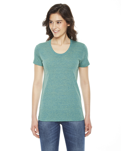 Tri Lemon MADE IN USA Ladies' Triblend Short-Sleeve Track T-Shirt as seen from the front