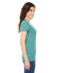 Tri Lemon MADE IN USA Ladies' Triblend Short-Sleeve Track T-Shirt as seen from the sleeveleft