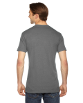 Athletic Grey MADE IN USA Unisex Triblend Short-Sleeve Track T-Shirt as seen from the back