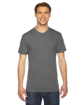 Athletic Grey MADE IN USA Unisex Triblend Short-Sleeve Track T-Shirt as seen from the front
