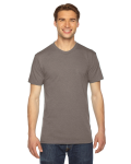 Tri Coffee MADE IN USA Unisex Triblend Short-Sleeve Track T-Shirt as seen from the front