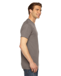 Tri Coffee MADE IN USA Unisex Triblend Short-Sleeve Track T-Shirt as seen from the sleeveleft