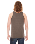 Tri Coffee MADE IN USA Unisex Triblend Tank as seen from the back