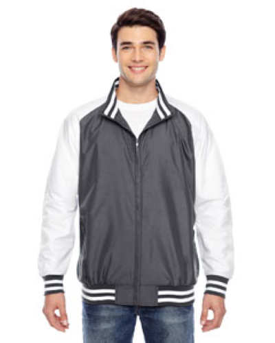 Sport Graphite Men's Championship Jacket as seen from the front
