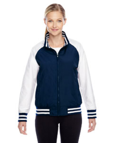 Sport Dark Navy Ladies' Championship Jacket as seen from the front