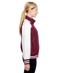 Sport Maroon Ladies' Championship Jacket as seen from the sleeveleft