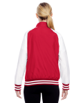 Sport Red Ladies' Championship Jacket as seen from the back