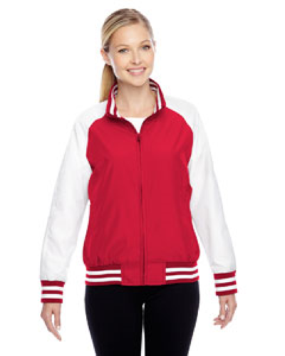 Sport Red Ladies' Championship Jacket as seen from the front