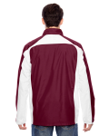 Sport Maroon Men's Squad Jacket as seen from the back