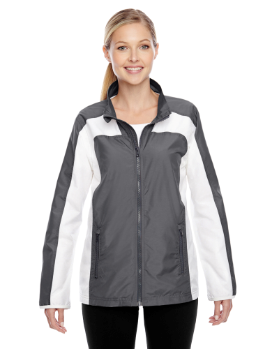 Sport Graphite Ladies' Squad Jacket as seen from the front