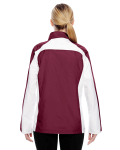 Sport Maroon Ladies' Squad Jacket as seen from the back