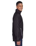 Black Men's Dominator Waterproof Jacket as seen from the sleeveleft
