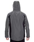 Sport Graphite Men's Dominator Waterproof Jacket as seen from the back