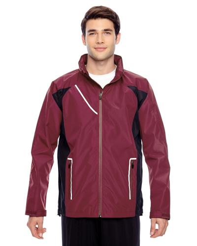 Sport Maroon Men's Dominator Waterproof Jacket as seen from the front