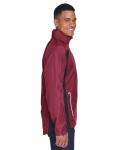 Sport Maroon Men's Dominator Waterproof Jacket as seen from the sleeveleft