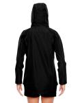 Black Ladies' Dominator Waterproof Jacket as seen from the back