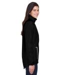 Black Ladies' Dominator Waterproof Jacket as seen from the sleeveleft