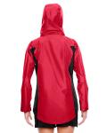 Sport Red Ladies' Dominator Waterproof Jacket as seen from the back