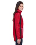 Sport Red Ladies' Dominator Waterproof Jacket as seen from the sleeveleft