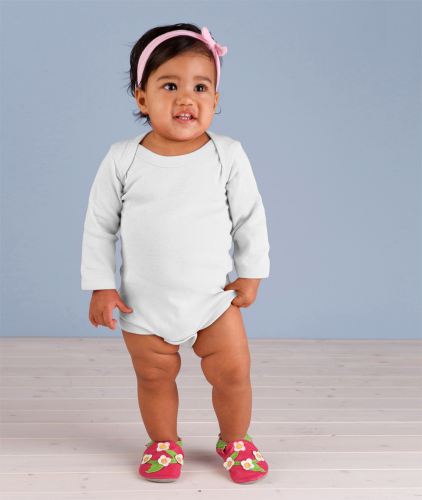 Infant Baby Rib Long-Sleeve Creeper