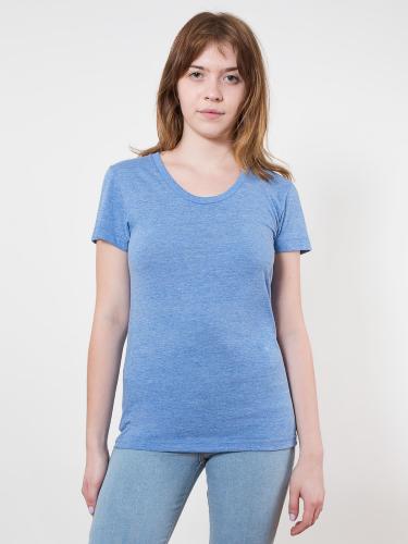 Tri-Blend S/S Womens Track T-Shirt