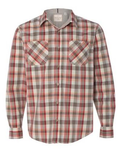 Vintage Plaid Long Sleeve Shirt - Embroidered