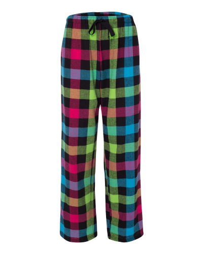 Fashion Flannel Pants With Pockets - Embroidered