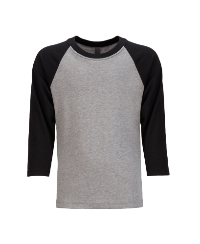 Next Level Youth CVC 3/4 Sleeve Raglan Tee