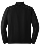Black Dk Grey Nike Golf Dri-FIT 1/2-Zip Cover-Up as seen from the back