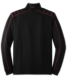 Blk Vrsity Red Nike Golf Dri-FIT 1/2-Zip Cover-Up as seen from the back