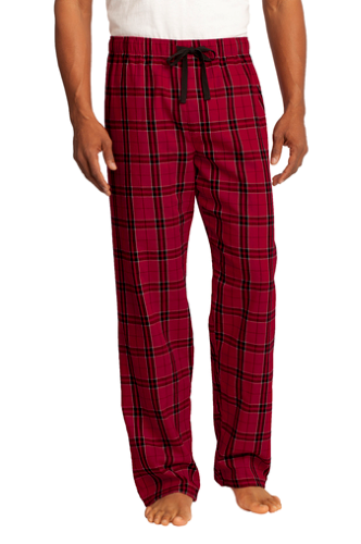 District Young Mens Flannel Plaid Pant
