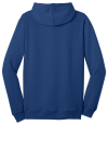 Deep Royal District Young Mens The Concert Fleece Full-Zip Hoodie as seen from the back