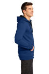 Deep Royal District Young Mens The Concert Fleece Full-Zip Hoodie as seen from the sleeveleft