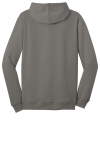 Grey District Young Mens The Concert Fleece Full-Zip Hoodie as seen from the back