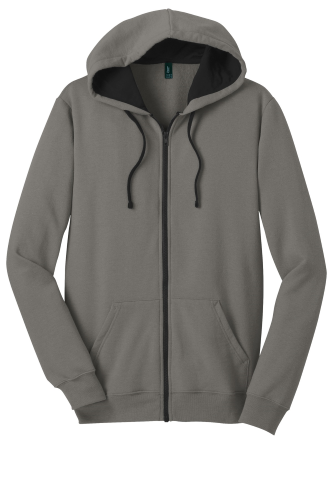 Grey District Young Mens The Concert Fleece Full-Zip Hoodie as seen from the front