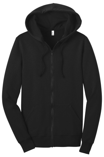 Black District Juniors The Concert Fleece Full-Zip Hoodie as seen from the front