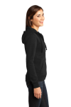 Black District Juniors The Concert Fleece Full-Zip Hoodie as seen from the sleeveleft