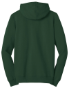 Forest Green District Juniors The Concert Fleece Full-Zip Hoodie as seen from the back