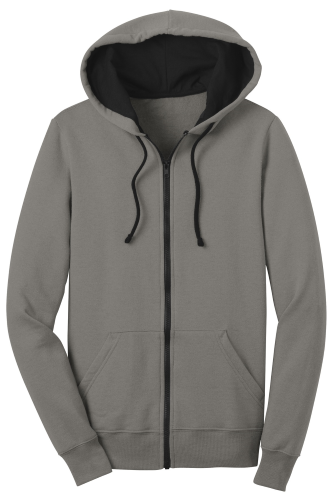 Grey District Juniors The Concert Fleece Full-Zip Hoodie as seen from the front