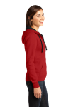 New Red District Juniors The Concert Fleece Full-Zip Hoodie as seen from the sleeveleft