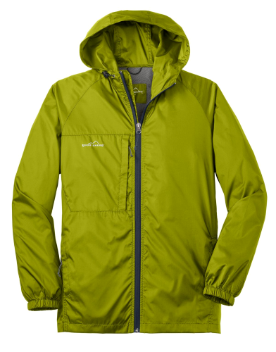 Pear Eddie Bauer Packable Wind Jacket as seen from the front