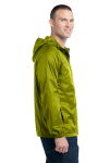 Pear Eddie Bauer Packable Wind Jacket as seen from the sleeveleft