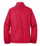 Radish Eddie Bauer Ladies Rain Jacket as seen from the back