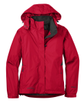 Radish Eddie Bauer Ladies Rain Jacket as seen from the front