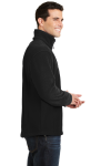 Black Port Authority Value Fleece 1/4-Zip Pullover as seen from the sleeveleft