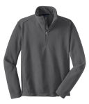 Iron Grey Port Authority Value Fleece 1/4-Zip Pullover as seen from the front