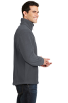Iron Grey Port Authority Value Fleece 1/4-Zip Pullover as seen from the sleeveleft